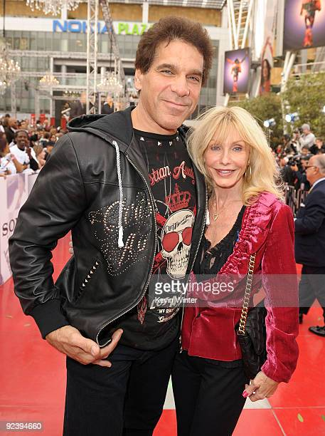 Actor Lou Ferrigno and wife Carla Ferrigno arrive at the premiere of Sony Pictures' This Is It held at Nokia Theatre Downtown LA on October 27 2009...