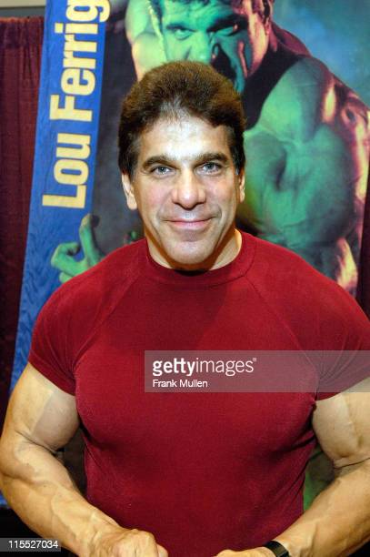 Actor Lou Ferrigno appears in the Walk of Fame at Dragon*Con on September 1 2007 in Atlanta Georgia