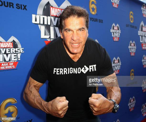 Actor Lou Ferrigno arrives at Marvel Universe LIVE! Age Of Heroes World Premiere Celebrity Red Carpet Event at Staples Center on July 8, 2017 in Los...