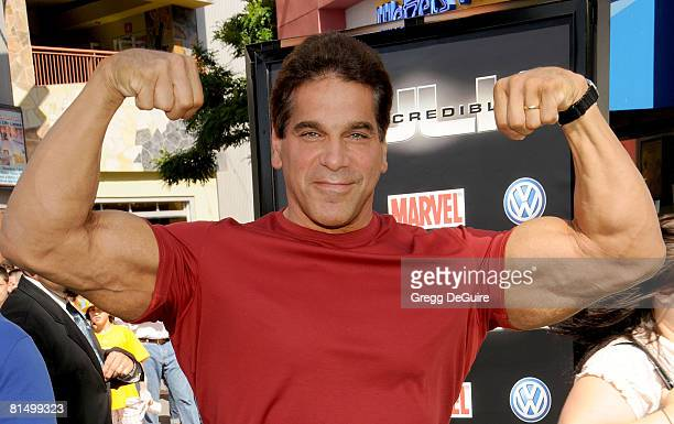 Actor Lou Ferrigno arrives at Premiere Of Universal Pictures' The Incredible Hulk on June 8 2008 in Universal City California