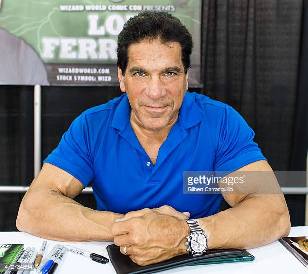 Actor Lou Ferrigno attends day 2 of Wizard World Comic Con at Pennsylvania Convention Center on May 8 2015 in Philadelphia Pennsylvania