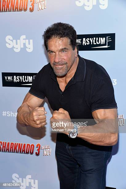 Actor Lou Ferrigno attends the Los Angeles premiere of Sharknado 3 Oh Hell No at iPic Theaters on July 22 2015 in Los Angeles California