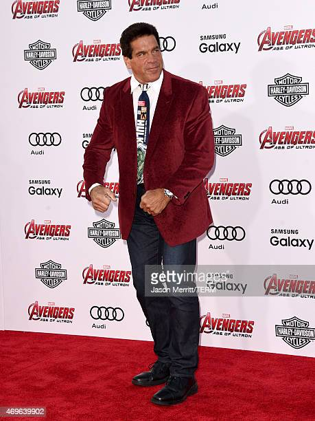 Actor Lou Ferrigno attends the premiere of Marvel's Avengers Age Of Ultron at Dolby Theatre on April 13 2015 in Hollywood California