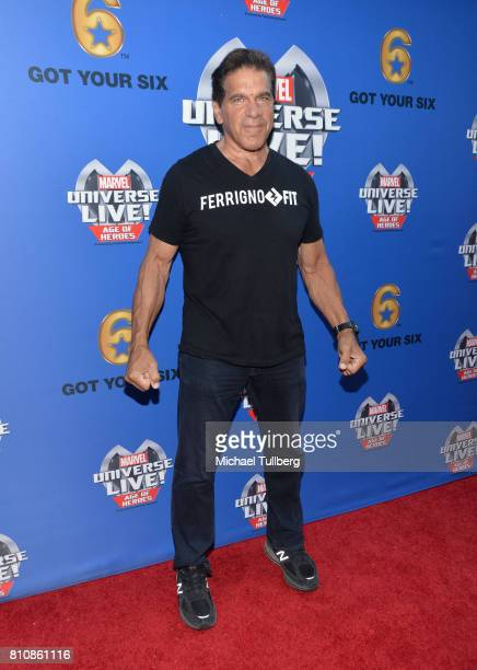 Actor Lou Ferrigno attends the world premiere of Marvel Universe Live Age Of Heroes at Staples Center on July 8 2017 in Los Angeles California
