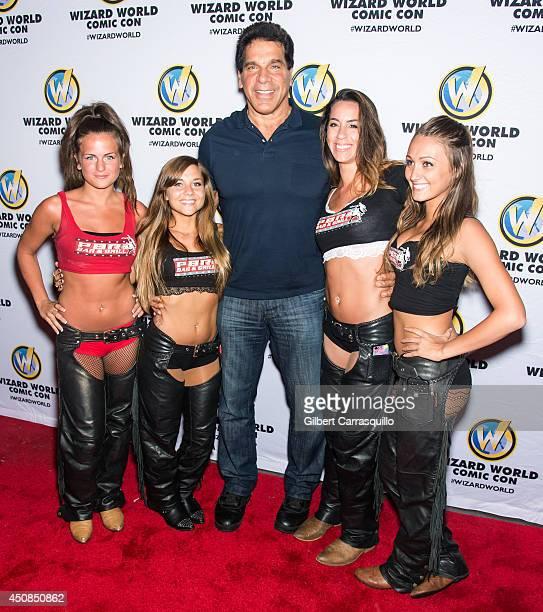 Actor Lou Ferrigno attends Wizard World Philadelphia Comic Con 2014 launch party at XFINITY Live Philadelphia on June 18 2014 in Philadelphia...