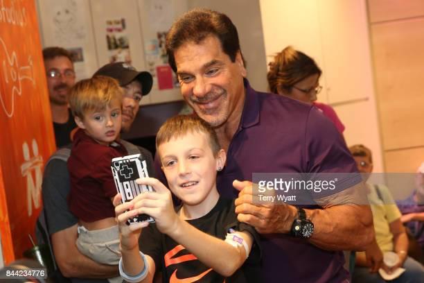 Actor Lou Ferrigno visits with patients at Monroe Carell Jr Children's Hospital at Vanderbilt on September 8 2017 in Nashville Tennessee