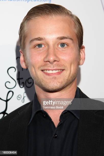 Actor Lou Taylor Pucci attends the 'The Story Of Luke' Los Angeles premiere held at the Laemmle Music Hall on April 2 2013 in Beverly Hills California