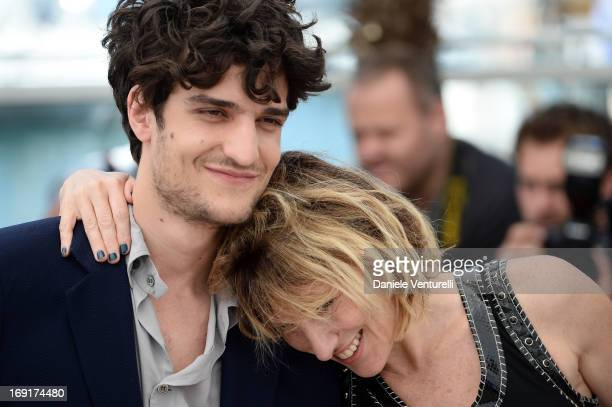 Actor Louis Garrel and director Valeria Bruni Tedeschi attend the photocall for 'Un Chateau En Italie' during The 66th Annual Cannes Film Festival at...