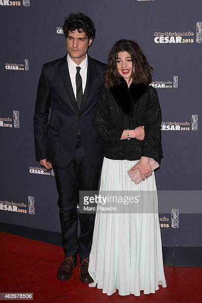 Actor Louis Garrel and sister Esther Garrel attend the 'CESARS' Film awards at Theatre du Chatelet on February 20 2015 in Paris France