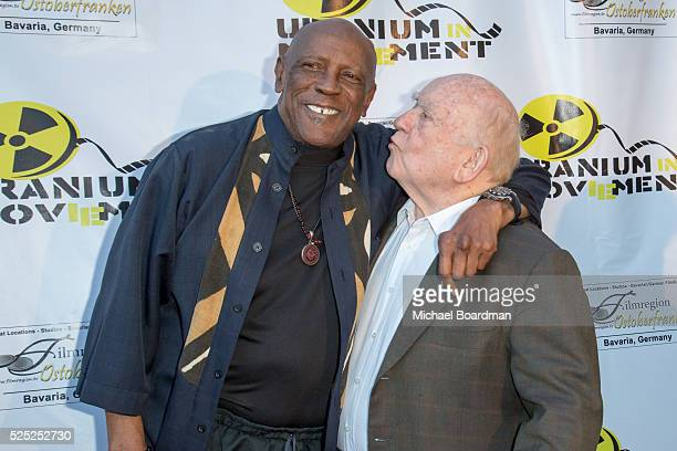"""Actor Louis Gossett Jr.. And actor Ed Asner attend """"The Man Who Saved The World"""" premiere during the Atomic Age Cinema Fest at Raleigh Studios on..."""