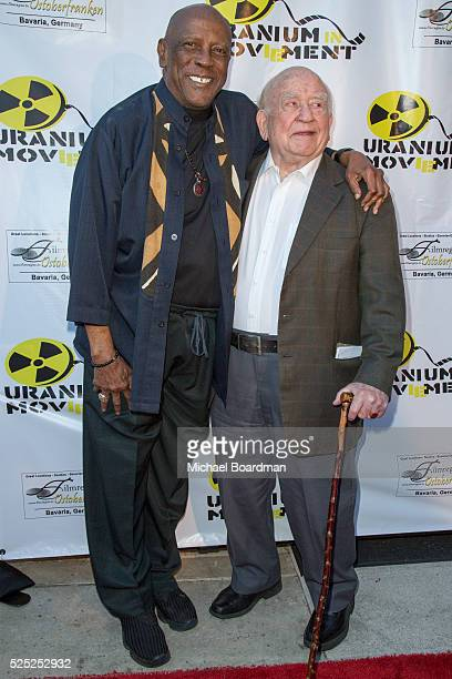 """Actor Louis Gossett Jr.. And Ed Asner attend """"The Man Who Saved The World"""" premiere during the Atomic Age Cinema Fest at Raleigh Studios on April 27,..."""