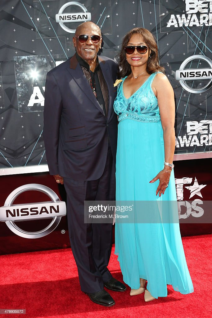 Actor Louis Gossett Jr. (L) and guest attend the 2015 BET Awards at the Microsoft Theater on June 28, 2015 in Los Angeles, California.