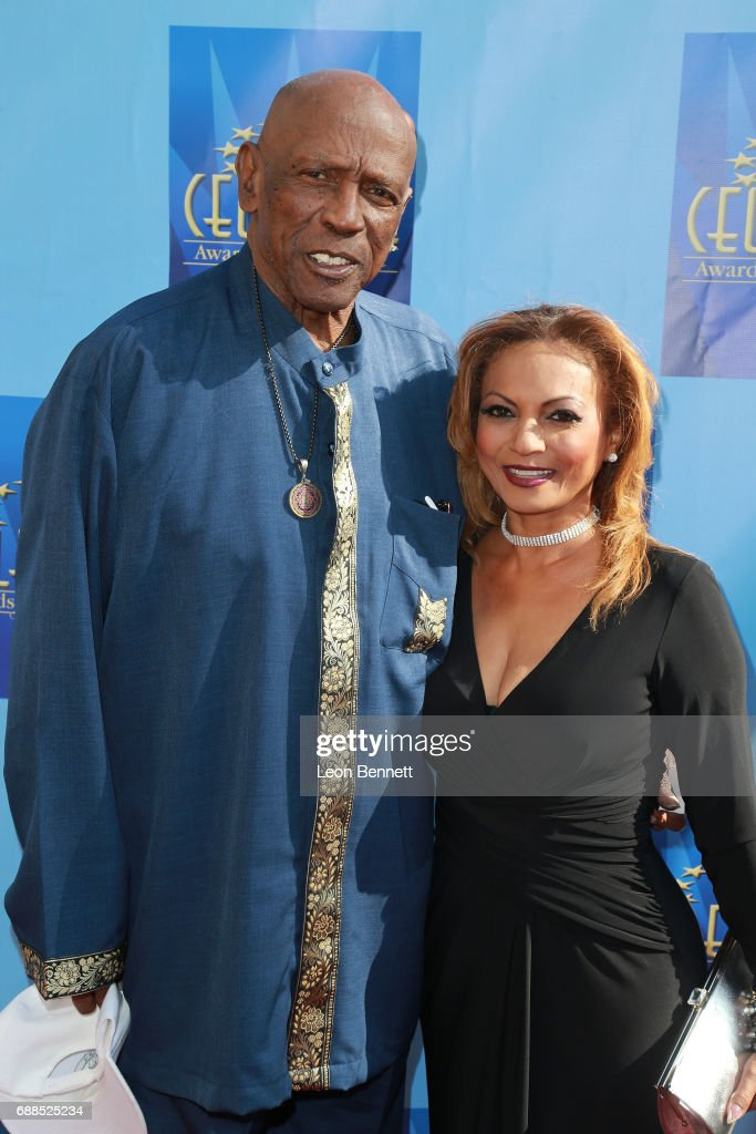 Actor Louis Gossett Jr. and Mona Ibrahim attends the Celestial Awards Of Excellence at Alex Theatre on May 25, 2017 in Glendale, California.