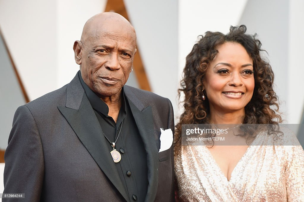 Actor Louis Gossett Jr. (R) and Shirley Neal attend the 88th Annual Academy Awards at Hollywood & Highland Center on February 28, 2016 in Hollywood, California.