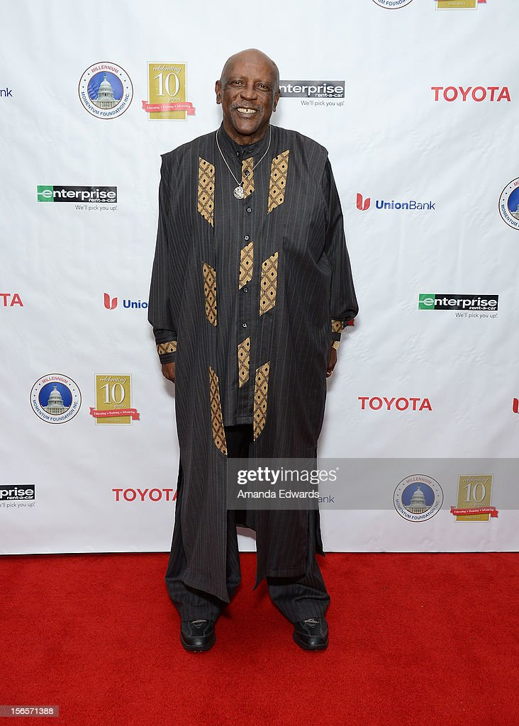 Actor Louis Gossett Jr. arrives at the 10th Annual Opening Doors Awards benefiting the Millennium Momentum Foundation at Dorothy Chandler Pavilion on November 16, 2012 in Los Angeles, California.