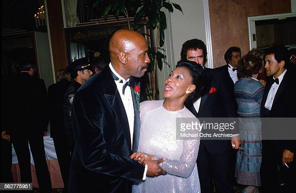 Actor Louis Gossett Jr arrives to the 55th Academy Awards at Dorothy Chandler Pavilion Los Angeles California