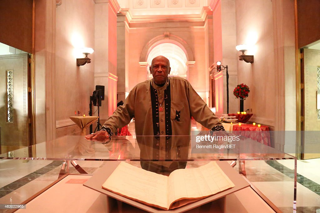 Actor Louis Gossett Jr. poses at 'The Book of Negroes' screening reception at The National Archives on January 22, 2015 in Washington, DC.