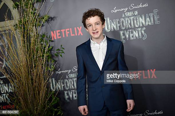 Actor Louis Hynes attends the 'Lemony Snicket's A Series Of Unfortunate Events' Screening at AMC Lincoln Square Theater on January 11 2017 in New...