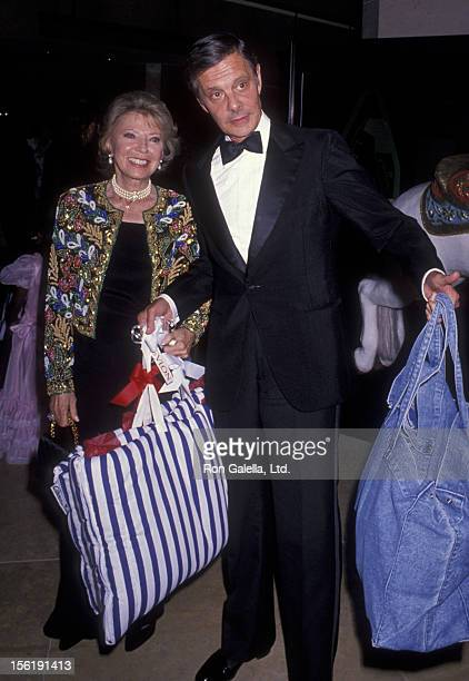 Actor Louis Jourdan and wife Berthe Jourdan attend Carousel Of Hope Ball Benefit on October 26 1990 at the Beverly Hilton Hotel in Beverly Hills...