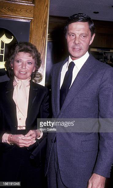Actor Louis Jourdan and wife Berthe Jourdan attend 'Welcome To LA' Party for Julio Inglesias on March 9 1983 at Chasen's Restaurant in Beverly Hills...