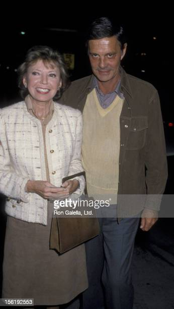 Actor Louis Jourdan and wife Berthe Jourdan sighted on December 18 1986 at Spago Restaurant in West Hollywood California