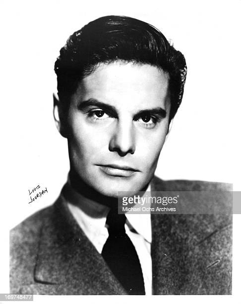 Actor Louis Jourdan poses for a portrait in circa 1956