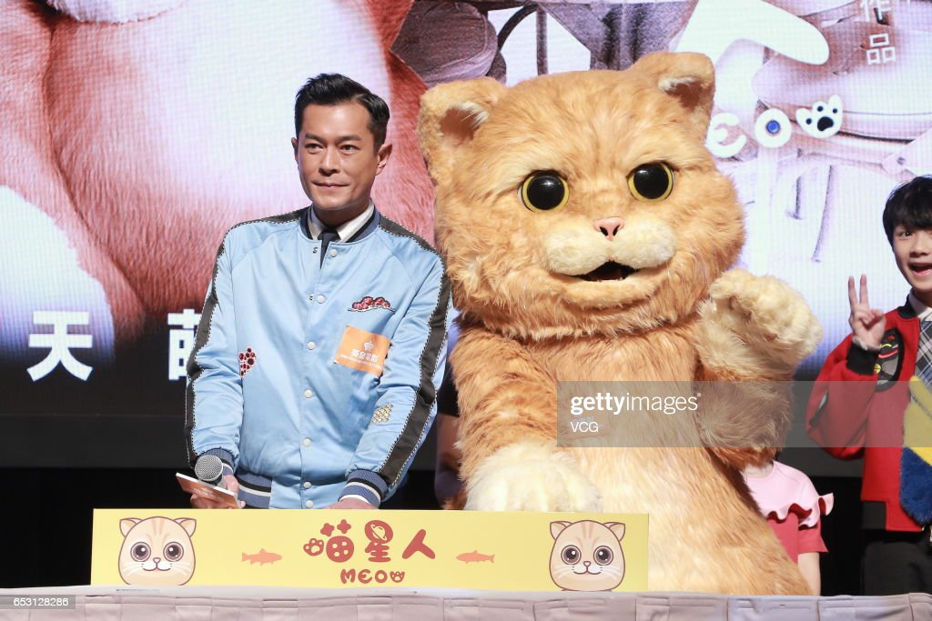 Actor Louis Koo (L) attends emperor motions pictures press conference as part of Hong Kong International Film and TV Market on March 14, 2017 in Hong Kong, China.
