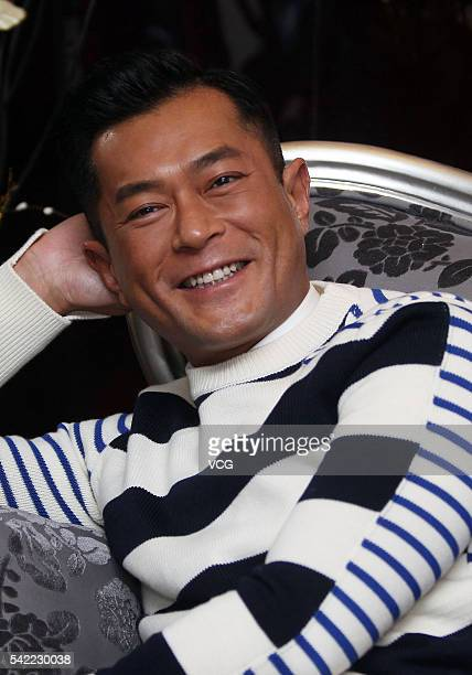 Actor Louis Koo receives interview for movie 'Three' on June 21 2016 in Guangzhou China
