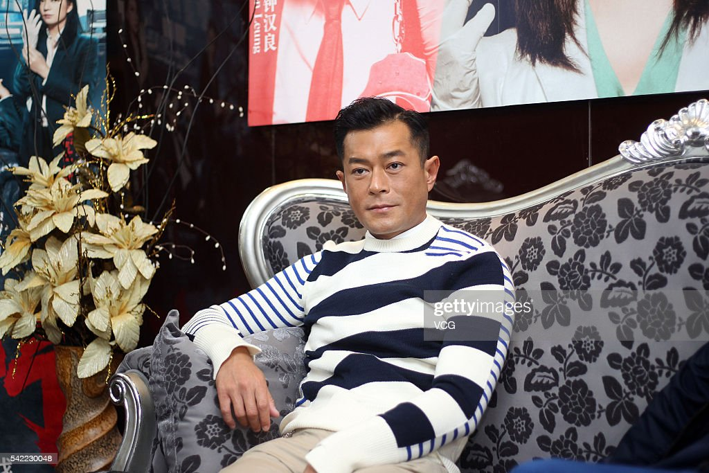 Actor Louis Koo receives interview for movie 'Three' on June 21, 2016 in Guangzhou, China.