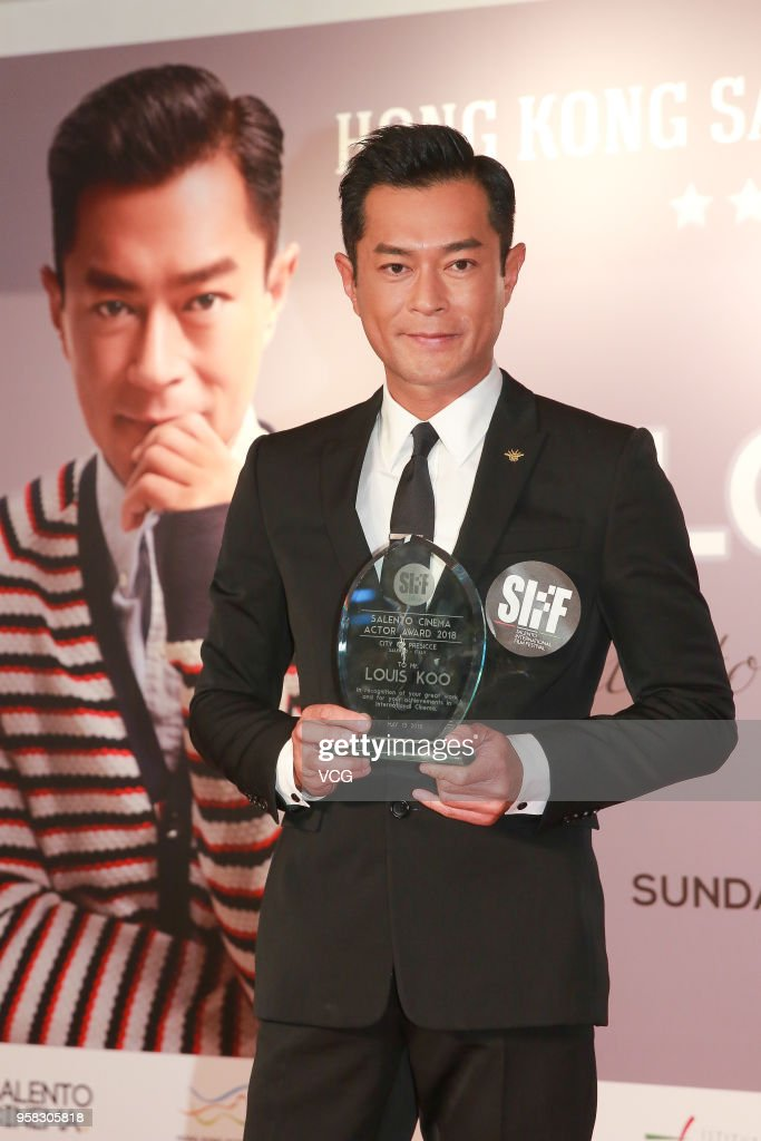 Actor Louis Koo Tin-lok attends the 7th Hong Kong Salento International Film Festival (HKSIFF) 2018 and is awarded the 'Salento Cinema Actor Award' on May 13, 2018 in Hong Kong, Hong Kong.