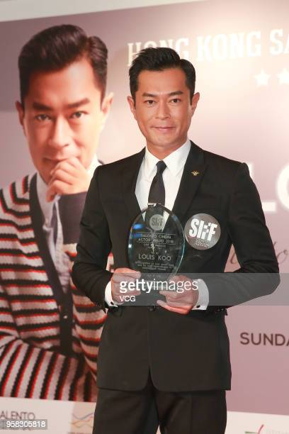 Actor Louis Koo Tinlok attends the 7th Hong Kong Salento International Film Festival 2018 and is awarded the 'Salento Cinema Actor Award' on May 13...