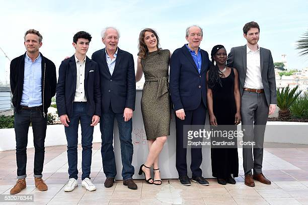 Actor Louka Minnella director JeanPierre Dardenne actress Adele Haenel director Luc Dardenne actors Nadege Ouedraogo and Olivier Bonnaud attend The...