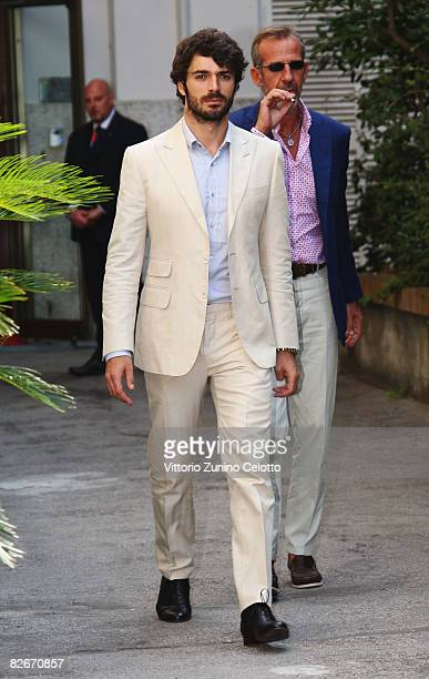 Actor Luca Argentero arrives at the Excelsior Hotel during the 65th Venice Film Festival on September 5 2008 in Venice Italy