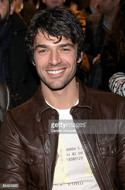 Actor Luca Argentero attend the Dolce Gabbana show as part of Milan Fashion Week Autumn/Winter 2009/10 Menswear on January 17 2009 in Milan Italy