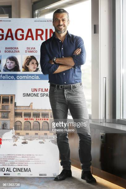 Actor Luca Argentero attends a photocall for 'Hotel Gagarin' at Hotel Eden on May 22 2018 in Rome Italy