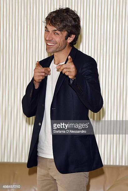 Actor Luca Argentero attends 'Fratelli Unici' photocall on October 1 2014 in Milan Italy