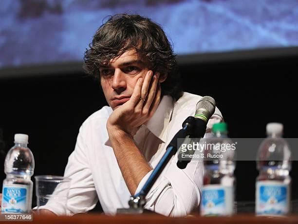 Actor Luca Argentero attends the 'E La Chiamano Estate' Press Conference during the 7th Rome Film Festival at the Auditorium Parco Della Musica on...