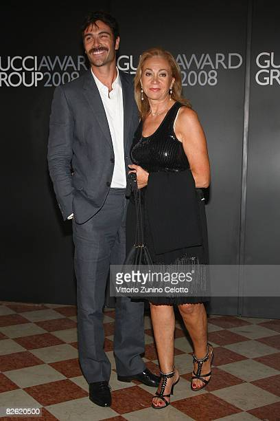 Actor Luca Calvani and Rosetta Sannelli attend the Gucci Awards at the Palazzo Grassi during the 65th Venice Film Festival on September 1, 2008 in...