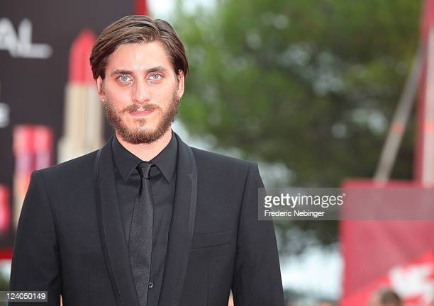 """Actor Luca Marinelli attends the """"L'ultimo Terrestre"""" premiere during the 68th Venice Film Festival at Palazzo del Cinema on September 8, 2011 in..."""