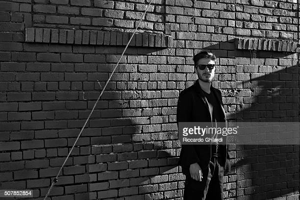 Actor Luca Marinelli is photographed for Self Assignment on November 11, 2015 in Los Angeles, United States.
