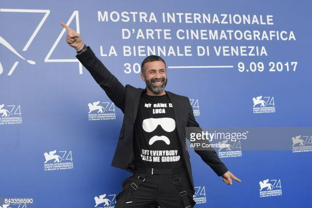 Actor Luca Tommassini attends the photocall of the movie 'Ammore E Malavita' presented in competition at the 74th Venice Film Festival on September 6...
