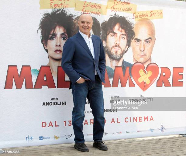 Actor Luca Zingaretti attends 'Maldamore' photocall at Villa Borghese on March 10 2014 in Rome Italy