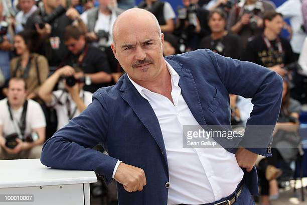 Actor Luca Zingaretti attends the 'Our Life' Photocall at the Palais des Festivals during the 63rd Annual Cannes Film Festival on May 20 2010 in...