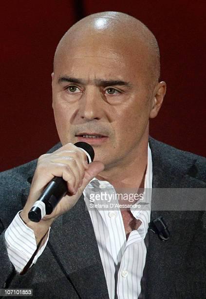 Actor Luca Zingaretti attends the 'Vieni Via Con Me' Italian TV Show on November 22 2010 in Milan Italy