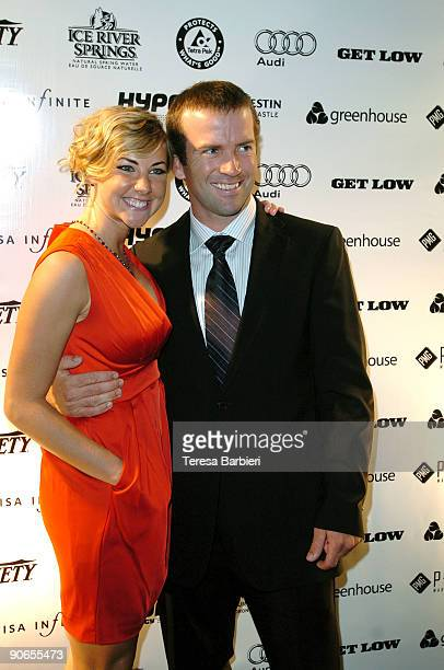 Actor Lucas Black and girlfriend Maggie O'Brien attend the Get Low premiere after party during the Toronto International Film Festival held at...