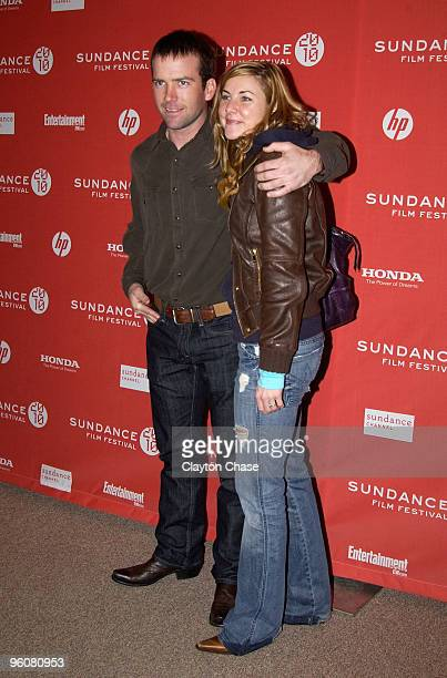 Actor Lucas Black and guest attend the Get Low premiere during the 2010 Sundance Film Festival at Eccles Center Theatre on January 23 2010 in Park...