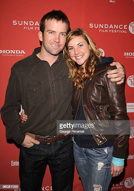 Actor Lucas Black and Maggie O'Brien attend the Get Low premiere during the 2010 Sundance Film Festival at Eccles Center Theatre on January 23 2010...