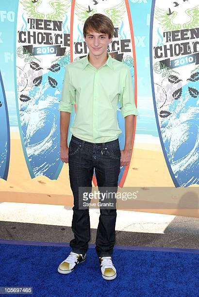 Actor Lucas Cruikshank arrives at the 2010 Teen Choice Awards at Gibson Amphitheatre on August 8 2010 in Universal City California