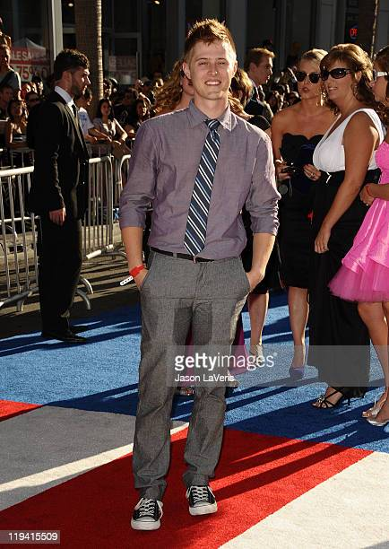 Actor Lucas Grabeel attends the premiere of Captain America The First Avenger at the El Capitan Theatre on July 19 2011 in Hollywood California