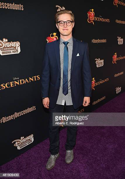Actor Lucas Grabeel attends the premiere of Disney Channel's Descendants at Walt Disney Studios on July 24 2015 in Burbank California
